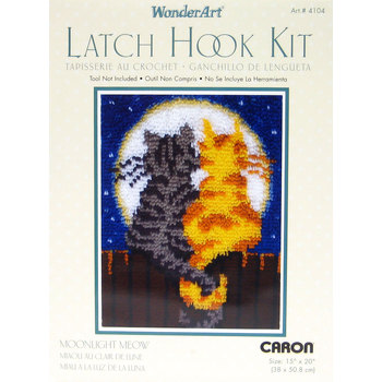 Moonlight Meow Latch Hook Kit